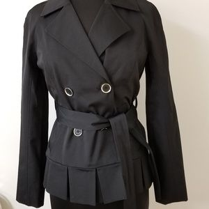 New York & Company Black Trenchcoat